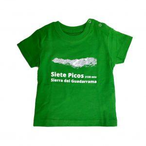 Camiseta-de-bebe-montañito-Cercedilla-verde