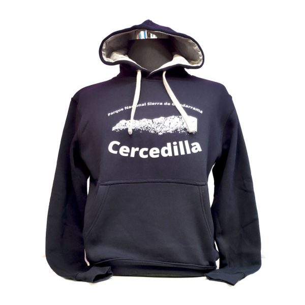 Sudadera-Montañito-con-capucha-azul-Cercedilla